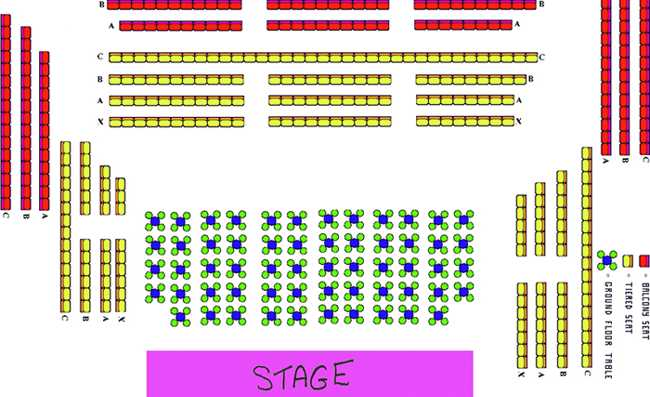 SEATING PLAN (GROUND FLOOR TABLES WERE TAKEN OUT)